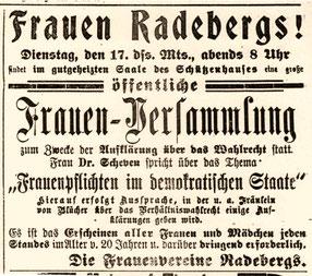 Radeberger Zeitung vom 17.12.1918