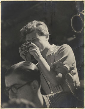 Gerda Taro in July 1937 in Spain; photo credit: anonymous, public domain