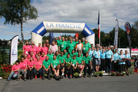 L'ensemble des bénévoles présents lors de la clôture des championnats de France