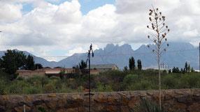 Tuin van Lita met zicht op The Organ Mountains