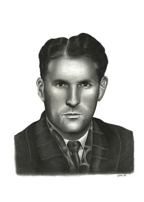 Portrait crayons vieil homme