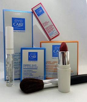 Make-Up Schminken Brille Kontaktlinsen