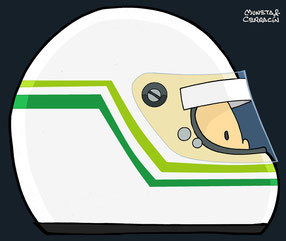 Helmet of Stefano Modena by Muneta & Cerracín