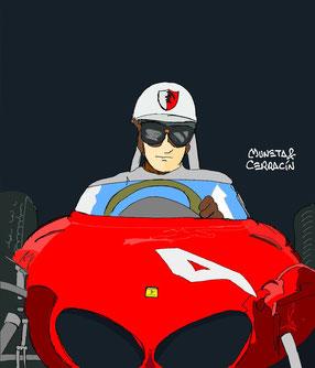 Wolfgang Von Trips by Muneta & Cerracín - Ferrari 156