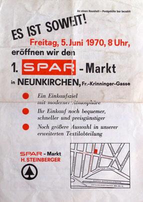 Eröffnungsflugblatt 1970