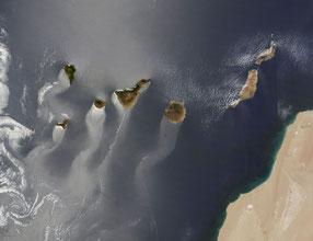 Islas Canarias desde satélites de la NASA
