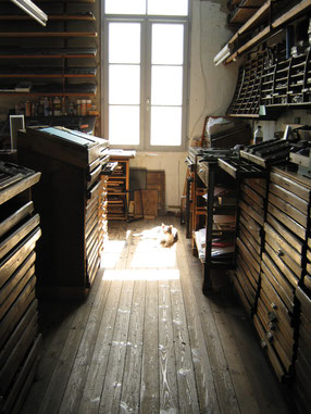 Les petites allées, Stages de typographie, typogsraphie, formation, stage, letterpress, France