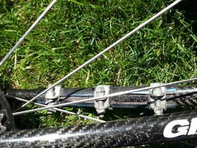Seatstay Carbon repair hose clamps