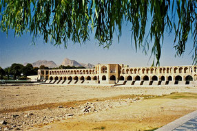 Si-o-se Pol, die 33-Bogen-Brücke in Isfahan
