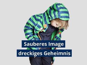 Eine Greenpeace-Untersuchung hat ergeben: Kinderkleidung und -schuhe von Aldi, Lidl, Rewe und Tchibo enthalten gefährliche Stoffe. Foto: Greenpeace.de