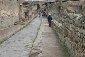 eine typische Staße in Herculaneum