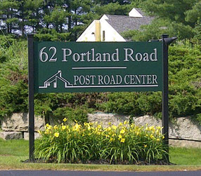 Post Road Center Sign