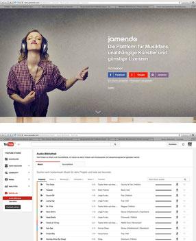 Gratis: Musik von Jamendo oder Youtube