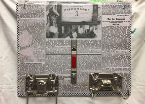 Pinnwand aus alten Aktenordnern, mit Geheimfach!