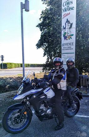 Josée sur la moto d'Henri