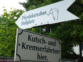 Bild: Pferdekutschen-Stellplatz