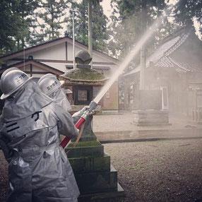 十社大神 消防訓練