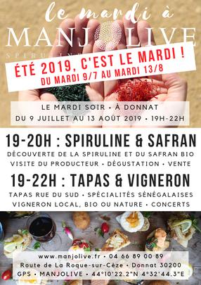 Le mardi à Manjolive, en 2019 c'est le mardi soir les visites et soirée guinguette!