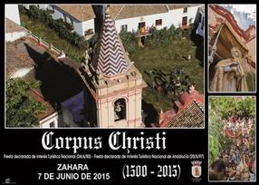 Cartel y programa de El Corpus en Zahara de la Sierra 2015