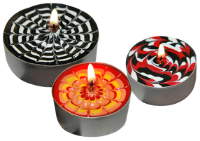 Kerzen bemalen im Adventskurs
