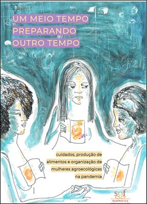 Book cover of Um meio tempo preparando outro tempo…, São Paulo, Sempreviva Organização Feminista, 2021.