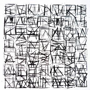 collec, Franziska Aeschimann A6 Karten mit schwarz/weiss Schriftornamenten