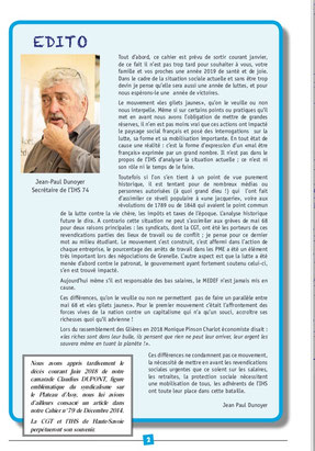 Editorial Cahier N°:92