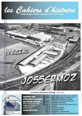 Cahier N° 97: JOSSERMOZ