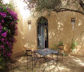 le jardin privé de la chambre d'hotes paprika au Riad, maison d'hotes le Jardin des Epices à Taroudant, Maroc