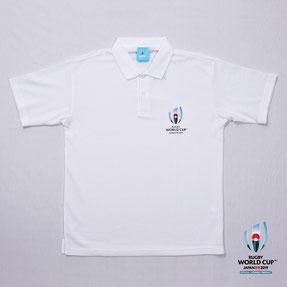 RWC2019™ロゴポロシャツ  白,ラグビーワールドカップ2019™,公式ライセンス商品通販,No Whistle,ノーホイッスル