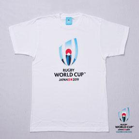 RWC2019™ロゴTシャツ  白,ラグビーワールドカップ2019™,公式ライセンス商品通販,No Whistle,ノーホイッスル