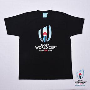 RWC2019™ ロゴTシャツ  黒,ラグビーワールドカップ2019™,公式ライセンス商品通販,No Whistle,ノーホイッスル