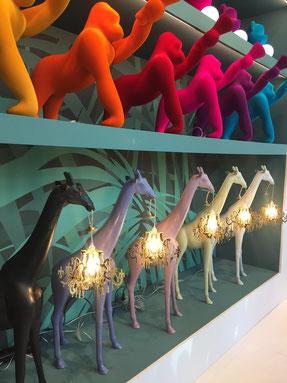 les lampadaires Girafe