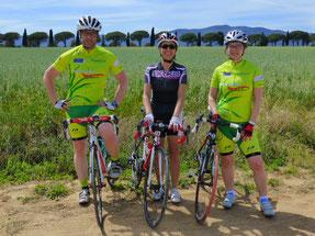 Rennrad Urlaub in der Toskana macht Spaß, ist ein Genuss - und in unseren geführten Gruppen macht es noch mehr Spaß!