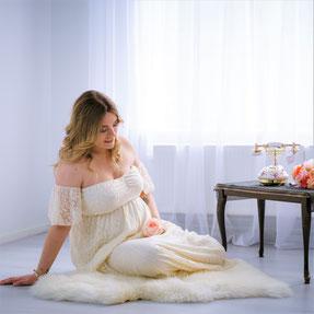 witte zwangerschapsjurk