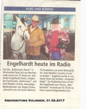 Andre Engelhardt im Radio