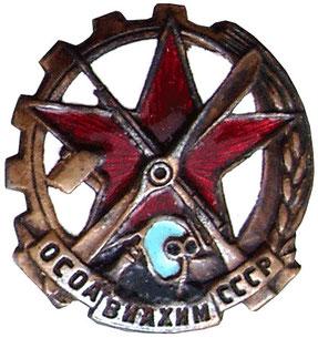 Членский знак ОСОФВИФХИМ