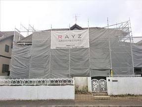 岐阜県各務原市 激安、屋根・外壁塗装工事中