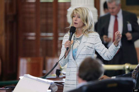 She filibustered to prevent the Texas legislature from passing a restrictive women's rights bill!!