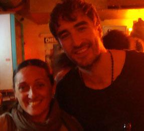 Simone mit Danny von The Coronas