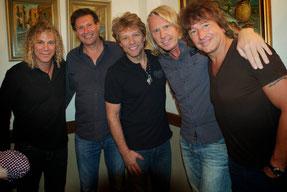 Bon Jovi mit Manfred Leodolter & Ewald Tatar