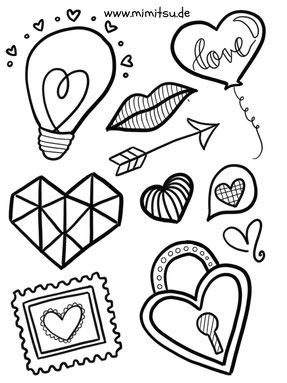 Love doodles tutorial bullet journal doodles for Love doodles to draw