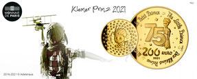kleiner prinz 2021 gold goldmünze monnaie de paris frankreich euro sammler münzhandel adelshaus