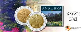Andorra euro kms 2 euro coincard blister neuausgaben adelshaus