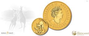känguru 2022 gold, goldmünzen kaufen, adelshaus