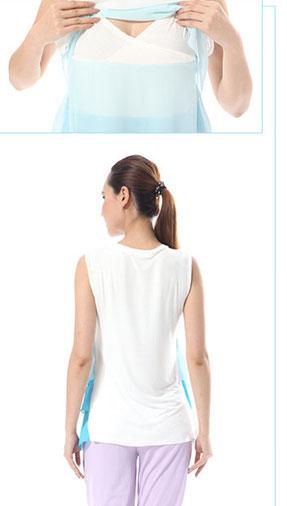 GMC Nursing Top - BK057 Sky Blue