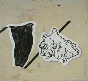 """""""ohne Titel"""",2012 Öl auf Karton"""