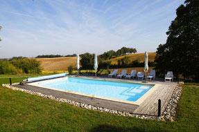 La Maison dans les Champs, gite Cuq Toulza, piscine, Tarn, Pays de Cocagne, Terres d'Autan, office de tourisme, gite proche de Toulouse