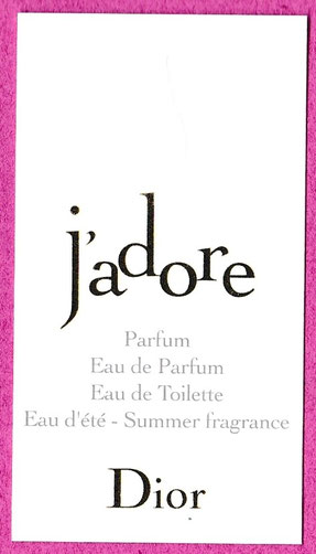2015 - J'ADORE CARTE MULTI-FRAGRANCES