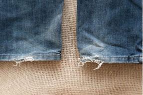 Ourlet jean déchiré